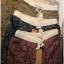 กางเกงขายาว ผ้าฝ้ายสไตล์ญี่ปุ่น ลายกราฟฟิครูปใบไม้ thumbnail 8