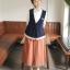Megu เสื้อกั๊ก ผ้าไหมพรมนิ่ม แต่งลูกไม้ถัก thumbnail 11