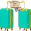 กระเป๋าเดินทางล้อลากไฟเบอร์ รุ่น colorful เขียวขอบเหลือง ขนาด 20/24/28 นิ้ว thumbnail 2