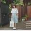 เดรสผ้าฝ้าย มีสายเอี๊ยม สไตล์ญี่ปุ่น thumbnail 5
