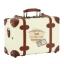 กระเป๋าเดินทางวินเทจ รุ่น retro brown ขาวคาดน้ำตาล ขนาด 20 นิ้ว thumbnail 4