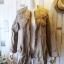 เสื้อคลุม overcoat แต่งลูกไม้ เอวรูด( สีน้ำตาล ) thumbnail 6
