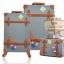 กระเป๋าเดินทางล้อลากวินเทจ รุ่น vintage retro สี ฟ้าคราม เซ็ตคู่ ขนาด 12+22 นิ้ว thumbnail 1