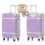 กระเป๋าเดินทางวินเทจ รุ่น colorful ม่วงอ่อนคาดขาว ขนาด 22 นิ้ว thumbnail 3