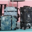 กระเป๋าเดินทางวินเทจ รุ่น เรโทรยีนส์ สีฟ้าเขียว ไซต์ 22 นิ้ว thumbnail 5