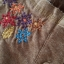 เดรสผ้ายืดเนื้อนิ่ม ต่อผ้าลายสก้อต ปักลายดอกไม้ สีน้ำตาล thumbnail 9