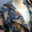 เสื้อแจ๊กเก๊ต มี hood ผ้ายีนส์ลายดอกไม้วินเทจ thumbnail 4