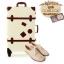 กระเป๋าเดินทางวินเทจ รุ่น retro brown ขาวคาดน้ำตาล ขนาด 20 นิ้ว thumbnail 2