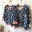 เสื้อสไตล์ญี่ปุ่น 2 ชิ้น ผ้ายีนส์ลายวงกลม thumbnail 2