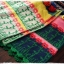 ผ้าพันคอ ไหมพรม ทอลายดอกทานตะวัน สีเหลือง thumbnail 6