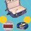 กระเป๋าเดินทางวินเทจ รุ่น vintage retro ลายเสือดาว เซ็ตคู่ ขนาด 12+24 นิ้ว thumbnail 4