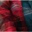 SM2 เสื้อเชิ้ตผ้าฝ้ายสไตล์ลำลองญี่ปุ่น ลายสก้อตสีสวยสด thumbnail 5