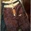 กางเกงขายาว ผ้าฝ้ายสไตล์ญี่ปุ่น ลายกราฟฟิครูปใบไม้ thumbnail 7