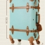 กระเป๋าเดินทางล้อลากวินเทจ รุ่น vintage retro สี Blue เซ็ตคู่ ขนาด 12+24 นิ้ว thumbnail 4