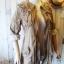 เสื้อคลุม overcoat แต่งลูกไม้ เอวรูด( สีน้ำตาล ) thumbnail 4