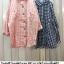เสื้อเชิ้ตผ้าฝ้ายทอลายสก้อต สไตล์ญี่ปุ่น thumbnail 7