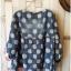 เสื้อสไตล์ญี่ปุ่น 2 ชิ้น ผ้ายีนส์ลายวงกลม thumbnail 7