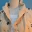 เสื้อแจ๊กเก๊ต มี hood พิมพ์ลาย ABC สีน้ำตาล thumbnail 3