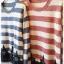 เสื้อไหมพรมกันหนาว สไตล์ญี่ปุ่น ลายริ้ว สีกรมท่า แต่งชายลูกไม้สีดำ thumbnail 3