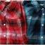 SM2 เสื้อเชิ้ตผ้าฝ้ายสไตล์ลำลองญี่ปุ่น ลายสก้อตสีสวยสด thumbnail 2