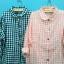 เสื้อเชิ้ตผ้าฝ้ายทอลายสก้อต สไตล์ญี่ปุ่น thumbnail 2
