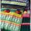 ผ้าพันคอ ไหมพรม ทอลายดอกทานตะวัน สีเหลือง thumbnail 4