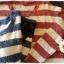 เสื้อไหมพรมกันหนาว สไตล์ญี่ปุ่น ลายริ้ว สีกรมท่า แต่งชายลูกไม้สีดำ thumbnail 7