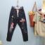 กางเกงยีนส์ขายาวสีดำฟอก สกรีนลายมิกกี้ thumbnail 2