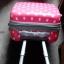 """กระเป๋าเดินทางไฟเบอร์ PC+ABS Lovely Polka dot สีชมพูเข้มลายจุดขาว (ไซต์ 18"""",22"""",26"""") thumbnail 7"""