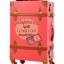 กระเป๋าเดินทางล้อลากวินเทจ รุ่น vintage retro สี แดงคาดน้ำตาล เซ็ตคู่ ขนาด 12+22 นิ้ว thumbnail 5