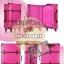 กระเป๋าเดินทางวินเทจ รุ่น spring colorful ชมพูคาดน้ำตาล ขนาด 24 นิ้ว thumbnail 1
