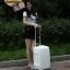 กระเป๋าเดินทางไฟเบอร์ รุ่น Aluminium ขาว ขนาด 20 นิ้ว thumbnail 2
