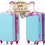 กระเป๋าเดินทางล้อลากไฟเบอร์ รุ่น colorful ฟ้าขอบชมพูเข้ม ขนาด 20/24/28 นิ้ว thumbnail 4
