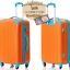 กระเป๋าเดินทางล้อลากไฟเบอร์ รุ่น colorful ส้มขอบฟ้า ขนาด 20/24/28 นิ้ว thumbnail 3