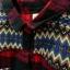 เสื้อเชิ้ตผ้าฝ้ายลายลายสก้อตโทนสีแดง แต่งลายกราฟฟิคย้อนยุค thumbnail 4