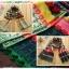 ผ้าพันคอ ไหมพรม ทอลายดอกทานตะวัน สีเหลือง thumbnail 1