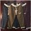 กางเกงขายาว ผ้าฝ้ายสไตล์ญี่ปุ่น ลายกราฟฟิครูปใบไม้ thumbnail 1