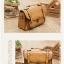 กระเป๋าหนัง pu รุ่นสะพายไหล่ ตัวล็อคเขี้ยว คาดเข็มขัดที่ฝากระเป๋า สีน้ำตาลอ่อน thumbnail 1