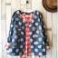 เสื้อสไตล์ญี่ปุ่น 2 ชิ้น ผ้ายีนส์ลายวงกลม thumbnail 3
