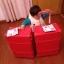 กระเป๋าเดินทางวินเทจ รุ่น spring colorful แดงคาดแดงล้วน ขนาด 24 นิ้ว thumbnail 4