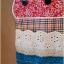 เสื้อยืด bedada แต่ง patchwork ลายแมว ชายเสื้อไขว้ สีน้ำตาลอ่อน thumbnail 4