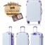 กระเป๋าเดินทางล้อลากไฟเบอร์ รุ่น colorful ขาวขอบม่วง ขนาด 20/24/28 นิ้ว thumbnail 2