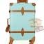 กระเป๋าเดินทางล้อลากวินเทจ รุ่น vintage retro สี Blue เซ็ตคู่ ขนาด 12+24 นิ้ว thumbnail 3