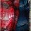 SM2 เสื้อเชิ้ตผ้าฝ้ายสไตล์ลำลองญี่ปุ่น ลายสก้อตสีสวยสด thumbnail 4