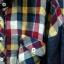 เสื้อเชิ้ตผ้าฝ้ายลายลายสก้อตแขนยีนส์ เนื้อนิ่มมากๆ thumbnail 4