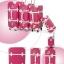 กระเป๋าเดินทางวินเทจ รุ่น spring colorful ชมพูเข้มคาดขาว ขนาด 22 นิ้ว thumbnail 2