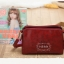 กระเป๋าหนัง pu รุ่นสะพายไหล่ซิปคู่ งานฉลุ thumbnail 6