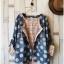 เสื้อสไตล์ญี่ปุ่น 2 ชิ้น ผ้ายีนส์ลายวงกลม thumbnail 8