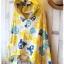 Joky gal เสื้อคลุมผ้ายืด มี hood ลายกระโหลก สีเหลือง thumbnail 2