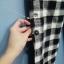 กางเกงผ้าฝ้ายเนื้อนิ่ม ขา 9 ส่วน ลายสก้อตสีดำ thumbnail 3